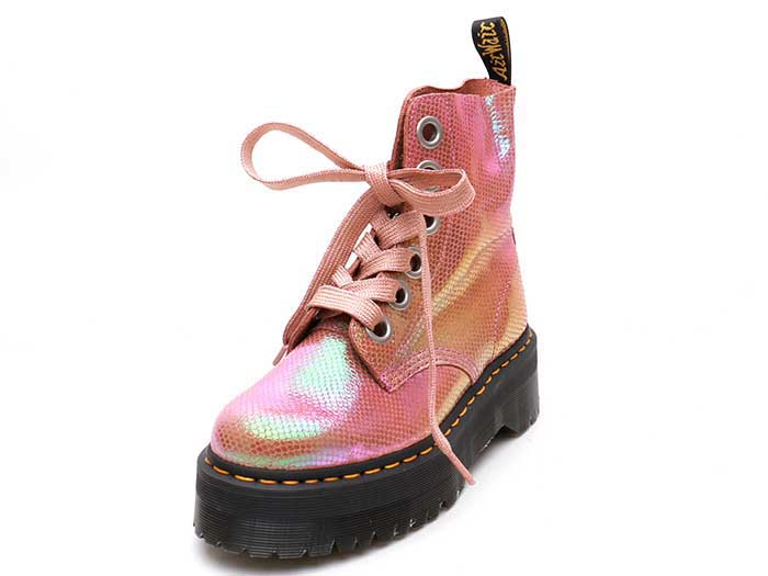 QUAD RETRO MOLLY 6EYE BOOT(25241650)PINK IRIDESCENT TEXTUREのメイン商品写真