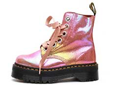QUAD RETRO MOLLY 6EYE BOOT(25241650)PINK IRIDESCENT TEXTUREの左横向き写真