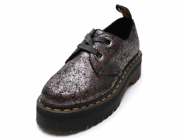 QUAD RETRO HOLLY 2EYE SHOE(25723029)GUNMETAL IRIDESCENT CRACKLEのメイン商品写真