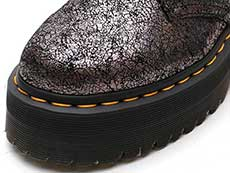 QUAD RETRO HOLLY 2EYE SHOE(25723029)GUNMETAL IRIDESCENT CRACKLEのトゥ部分イメージ