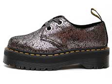 QUAD RETRO HOLLY 2EYE SHOE(25723029)GUNMETAL IRIDESCENT CRACKLEの左横向きイメージ