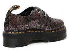QUAD RETRO HOLLY 2EYE SHOE(25723029)GUNMETAL IRIDESCENT CRACKLEの右斜め後ろ向きイメージ