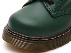 CORE KIDS 1460 T INFANTS LACE BOOT(25810313)DMS GREEN ROMARIO(SMOOTHER FINISH)のトゥ部分写真