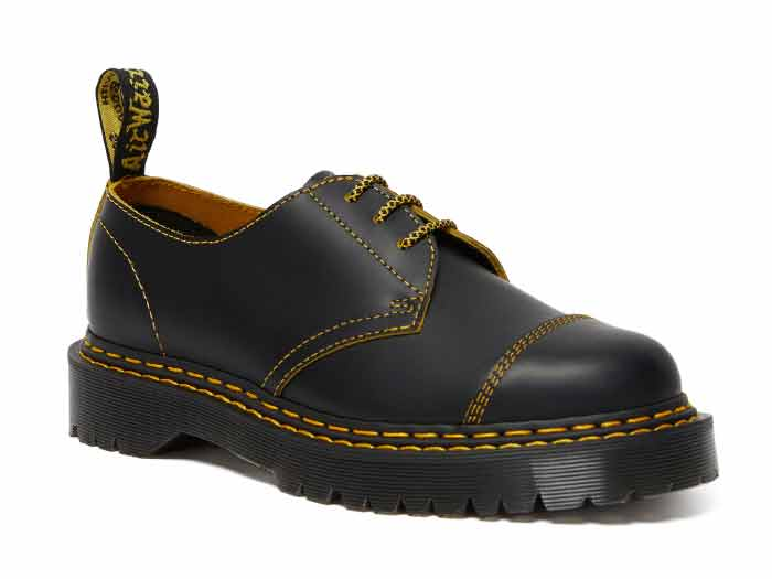 CORE BEX 1461 BEX DS 3EYE SHOE(25951032)BLACK/YELLOW SMOOTH SLICEのメイン商品写真