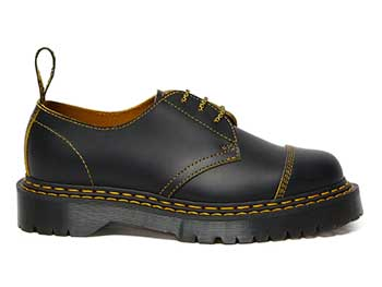 CORE BEX 1461 BEX DS 3EYE SHOE(25951032)BLACK/YELLOW SMOOTH SLICEの右横向き写真