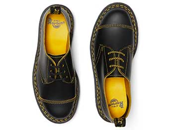 CORE BEX 1461 BEX DS 3EYE SHOE(25951032)BLACK/YELLOW SMOOTH SLICEの上からの写真