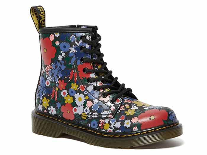 CORE PRINT KIDS 1460 WANDERFLORA J LACE BOOT YOUTH(26046001)BLACK HYDROのメイン商品写真
