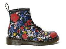 CORE PRINT KIDS 1460 WANDERFLORA J LACE BOOT YOUTH(26046001)BLACK HYDROの右横向き写真