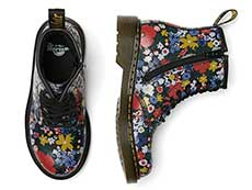 CORE PRINT KIDS 1460 WANDERFLORA J LACE BOOT YOUTH(26046001)BLACK HYDROの上からの写真