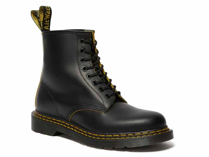 CORE 1460 DS 8EYE BOOT(26100032)BLACK/YELLOW SMOOTH SLICEのメイン商品写真
