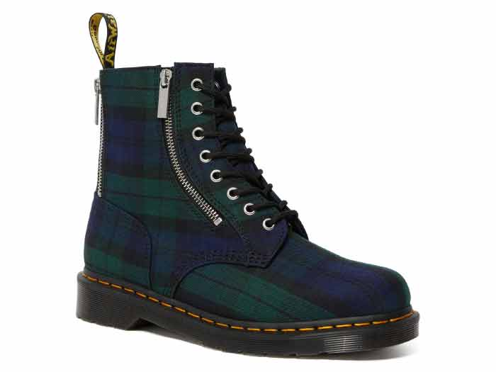 CORE APPLIQUE 1460 ZIP 8EYE BOOT(26212758)BLACK WATCH TARTANのメイン商品写真