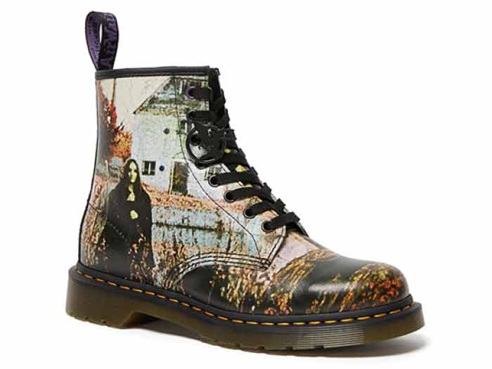 COLLABORATION 1460 BLACK SABBATH 8EYE BOOT(26315102)BLACK SABBATH BACKHAND STRAWGRAIN+GREASYの商品メイン写真