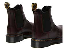 FUR LINED 2976 LEONORE CHELSEA BOOT(26332601)OXBLOOD ATLASの斜め右後ろ向き写真
