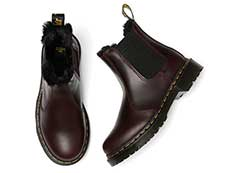 FUR LINED 2976 LEONORE CHELSEA BOOT(26332601)OXBLOOD ATLASの上からの写真