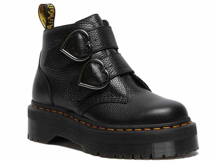 QUAD RETRO DEVON HEART 2STRAP BOOT(26439001)BLACK MILLED NAPPAのメイン商品写真
