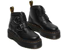QUAD RETRO DEVON HEART 2STRAP BOOT(26439001)BLACK MILLED NAPPAの右斜め前向き写真