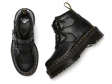 QUAD RETRO DEVON HEART 2STRAP BOOT(26439001)BLACK MILLED NAPPAの上からの写真