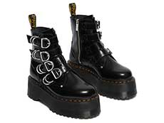 QUAD RETRO MAX JADON MAX HDW 4STRAP BOOT(26524001)BLACK BUTTEROの右斜め前向き写真