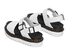ZEBRILUS VOSS SANDAL(26541100)WHITE HYDRO LEATHER 斜め後ろ向き写真