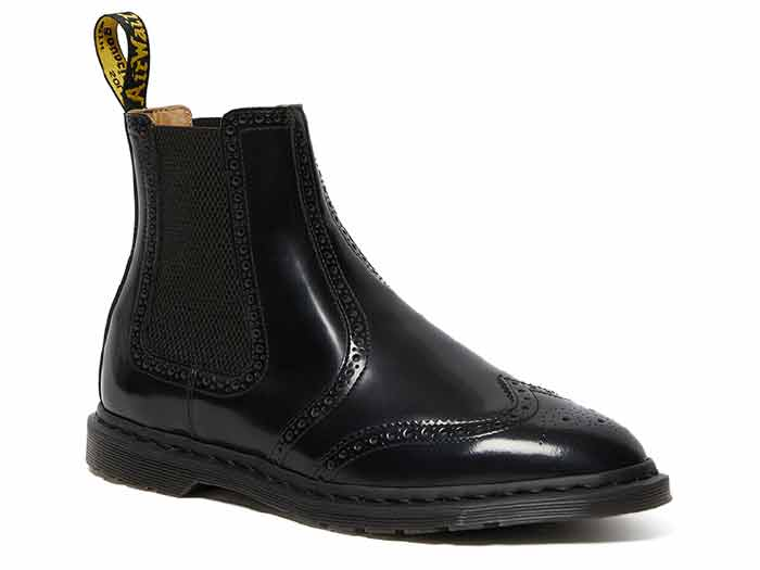 KENSINGTON GRAEME BROGUE CHELSEA BOOT(26586001)BLACK POLISHED SMOOTHのメイン商品写真