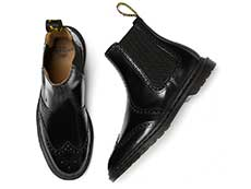 KENSINGTON GRAEME BROGUE CHELSEA BOOT(26586001)BLACK POLISHED SMOOTHの上からの写真