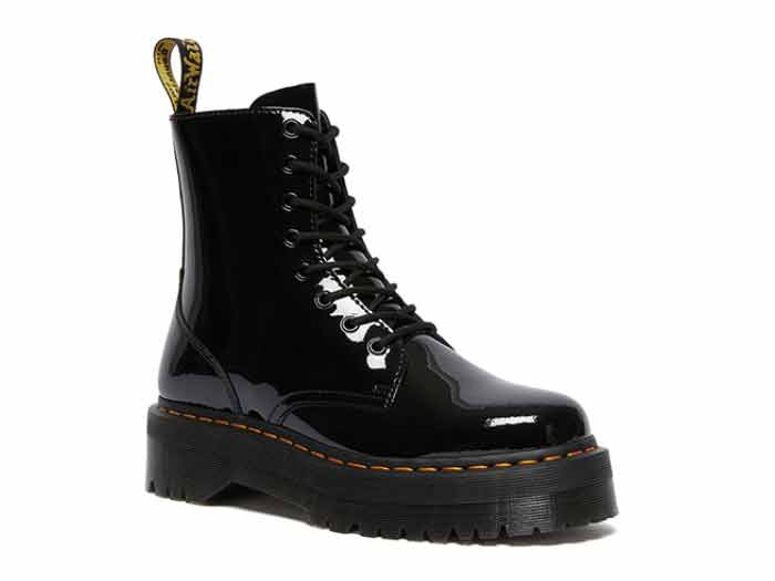 QUAD RETRO JADON 8EYE BOOT(26646001)BLACK PATENT LAMPERのメイン商品写真