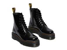 QUAD RETRO JADON 8EYE BOOT(26646001)BLACK PATENT LAMPERの右斜め前向き写真
