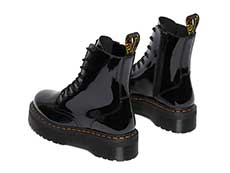 QUAD RETRO JADON 8EYE BOOT(26646001)BLACK PATENT LAMPERの左斜め後ろ向き写真