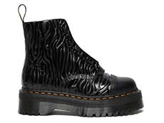 QUAD RETRO SINCLAIR JUNGLE BOOT(26704001)BLACK SMOOTH+ZEBRA GLOSS EMBOSS SMOOTHの右横向き写真