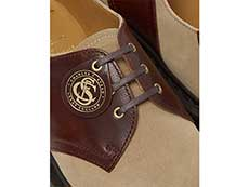 MIE FASHION 1461 3EYE SADDLE SHOE(26709207)GAUCHO+POLO BROWNのホール部分写真