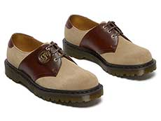 MIE FASHION 1461 3EYE SADDLE SHOE(26709207)GAUCHO+POLO BROWNの右斜め前からの写真