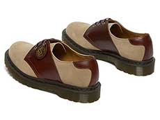 MIE FASHION 1461 3EYE SADDLE SHOE(26709207)GAUCHO+POLO BROWNの左斜め後ろからの写真