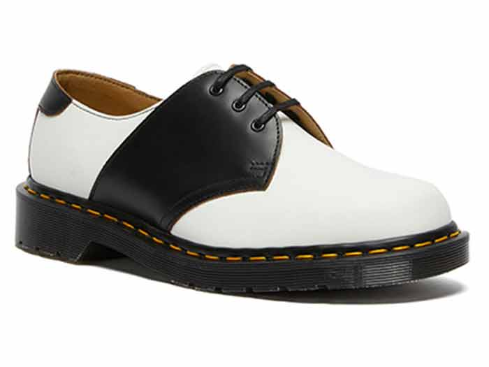 MIE FASHION 1461 SADDLE 3EYE SHOE(26710101)WHITE+BLACKのメイン商品写真