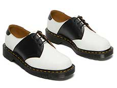 MIE FASHION 1461 SADDLE 3EYE SHOE(26710101)WHITE+BLACKの右斜め前からの写真
