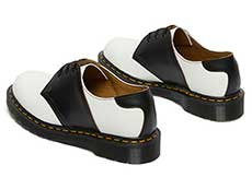 MIE FASHION 1461 SADDLE 3EYE SHOE(26710101)WHITE+BLACKの左斜め後ろからの写真