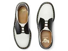 MIE FASHION 1461 SADDLE 3EYE SHOE(26710101)WHITE+BLACKの上からの写真
