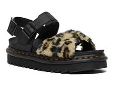 ZEBRILUS VOSS Ⅱ FLUFFY SANDAL(26721285)TAN/BLACK+BLACK LEOPARD FAUX FUR+HYDRO LEATHER 詳細ページへ