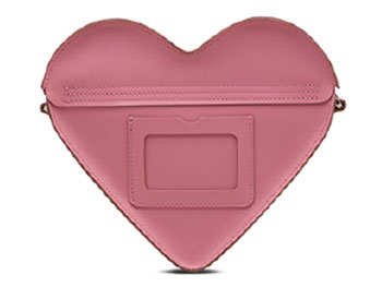HEART SATCHEL(AB002650) GERANIUM PINK+WHITE SMOOTH&SEQUIN PATCHの裏面写真