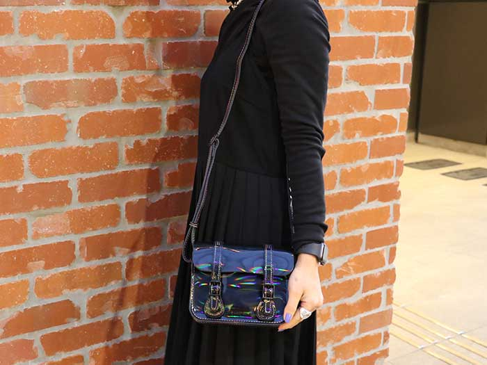"7""RAINBOW SATCHEL BAG(AB017014) BLACK RAINBOWのメインイメージ"