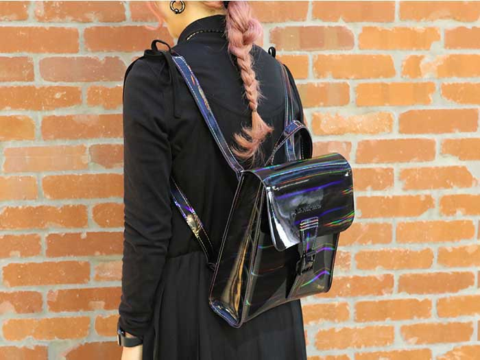 MINI RAINBOW LEATHER BACKPACK(AB053002) BLACK RAINBOWのメインイメージ
