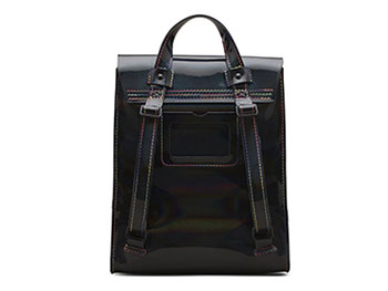 MINI RAINBOW LEATHER BACKPACK(AB053002) BLACK RAINBOWの裏面写真