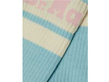 ATHLETIC LOGO SOCK(AC681425)LIGHT BLUE+EGRET COTTON BLENDの商品写真2