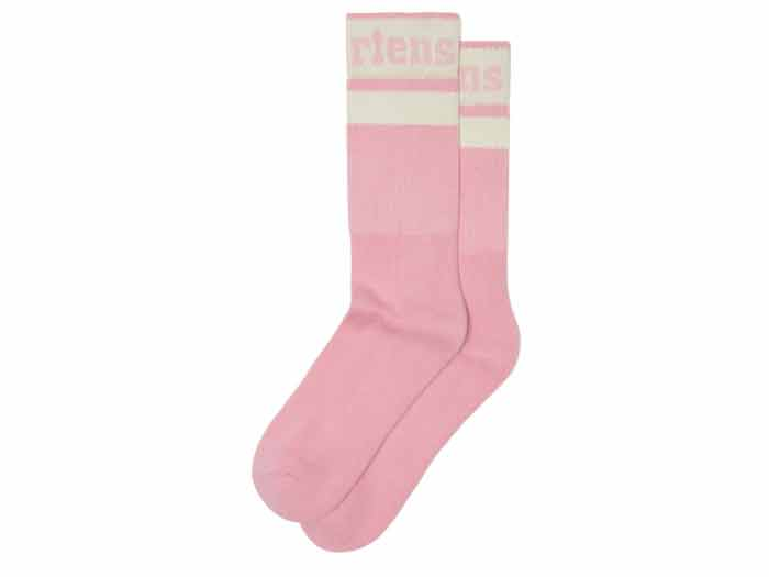 ATHLETIC LOGO SOCK(AC681688)MID PINK+EGRET COTTON BLENDのメイン商品写真