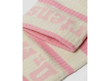 ATHLETIC LOGO SOCK(AC681688)MID PINK+EGRET COTTON BLENDの商品写真3